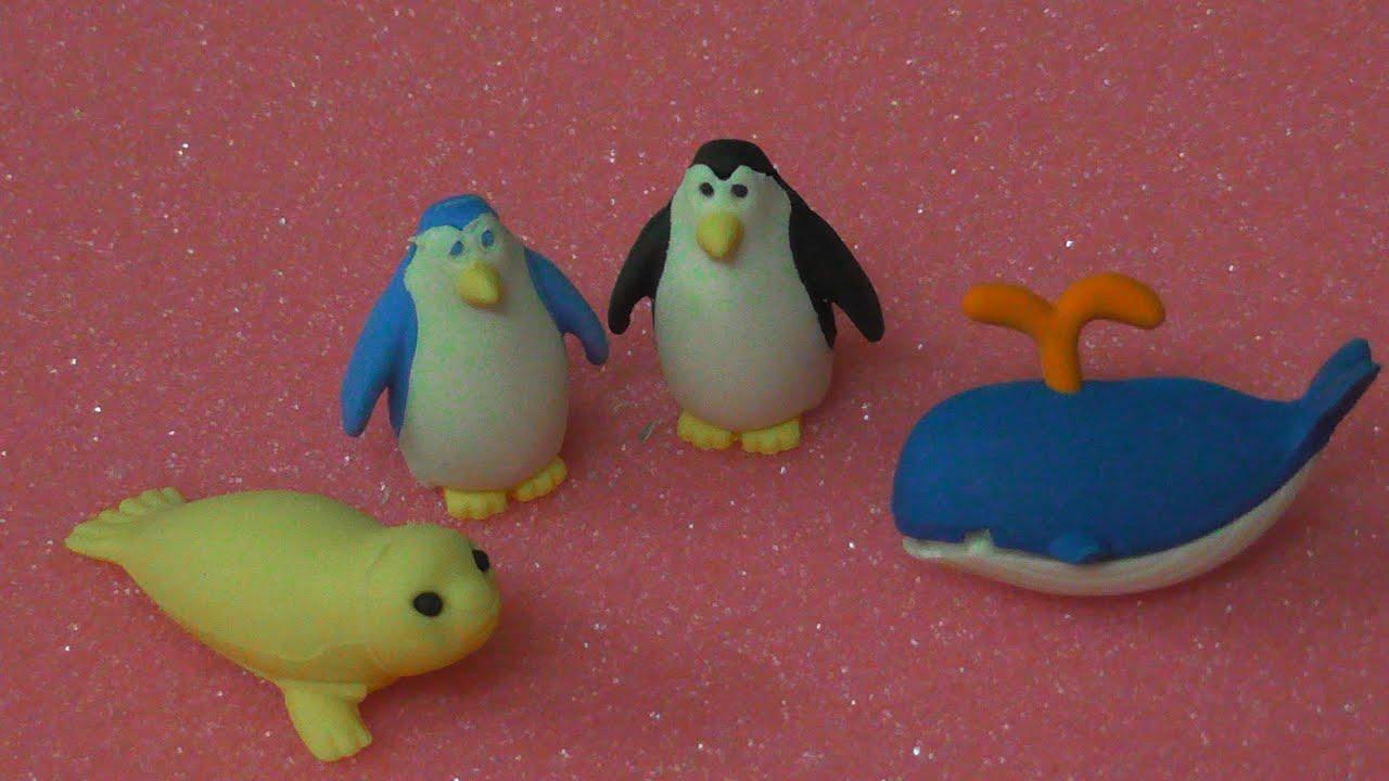 Ocean World Sealife Plastic Toys Set - 8 Fun Sealife Toy ... |Sea Creature Erasers Toys