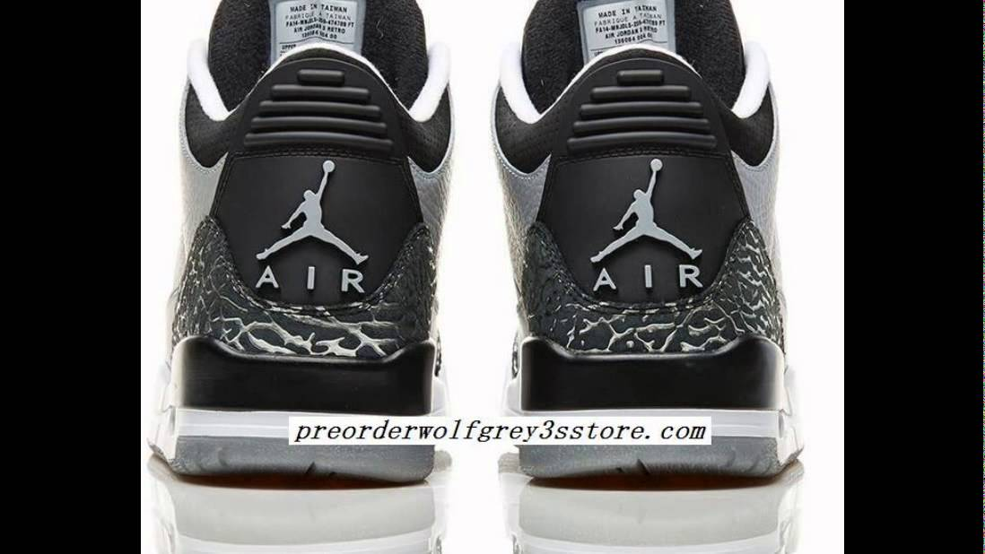 c34a03183a97ce How to Identify Authentic Jordan Wolf Grey 3s On Feet Sneakers ...