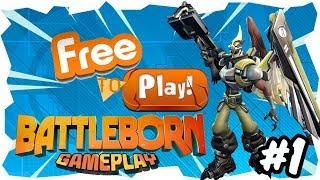 BATTLEBORN Mission Gameplay - PC PSN XBOX Free To Play - Overwatch Klon PvP und PvE - #01