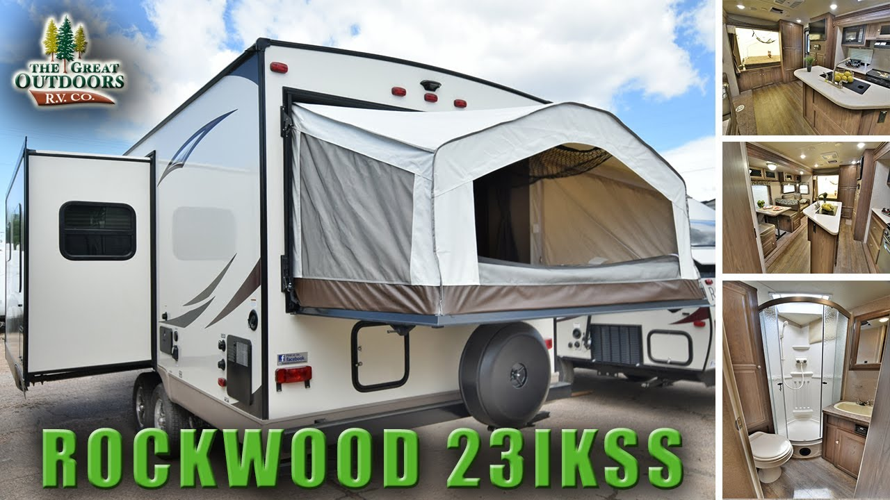 New Pop Out Bed Hybrid Camper 2018 Forest River Rockwood 23ikss Colorado Dealer