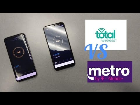 Metro By T-mobile VS Total Wireless Internet Speed Test
