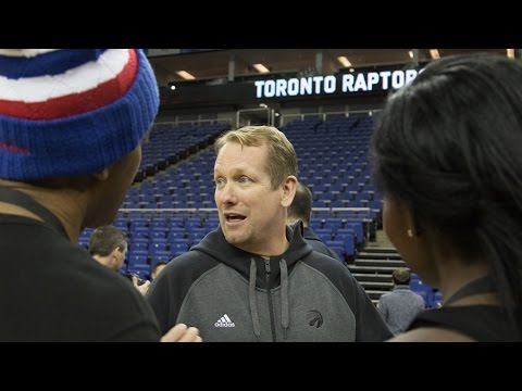 Toronto Raptor's Nick Nurse Straight Talking w/ The Drop at NBA Global Games London 2016
