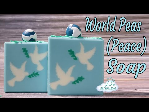World Peas (Peace) soap. The soap that made me cry............ cold process soap making tutorial