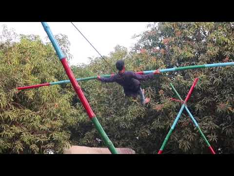 slacklining | choki dhani surat | rajasthani village and culture | rope walk | adventure in surat |