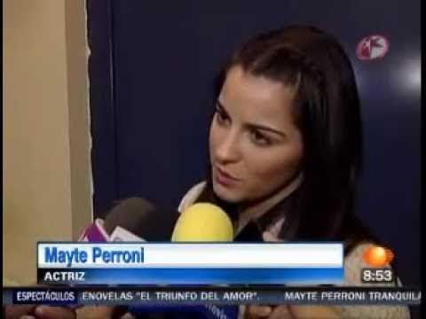 Maite Perroni habla de Carlos de la Mota y de su llegada de Brazil