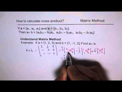 How To Calculate Cross Product Matrix