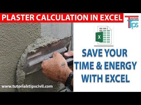 Calculate Mortar Quantity In Excel Sheet | Brick, Mortar