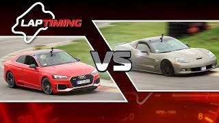 Kb. 1200 LE! Lesz baj! Audi RS5 vs. Corvette C6 (2) (Laptiming S01E25) (eng subs)