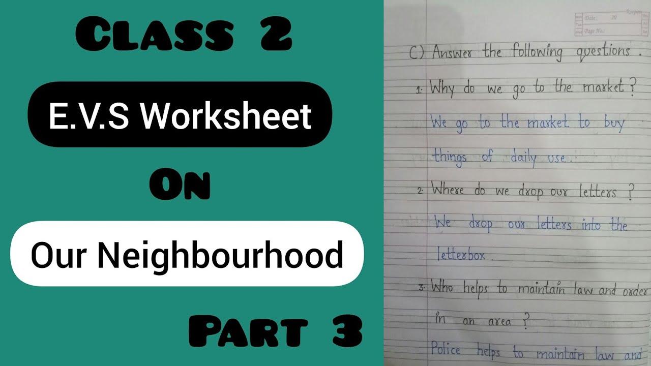 Class 2 E.V.S Worksheet   Chapter 7 - Our Neighbourhood   Video 5 - YouTube [ 720 x 1280 Pixel ]