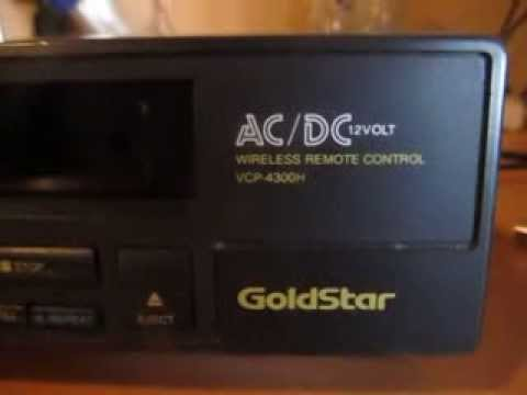 Goldstar vcp 4300h acdc vcr youtube publicscrutiny Gallery