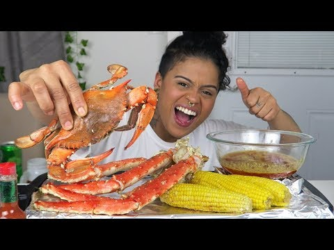 KING CRAB Seafood Boil Mukbang + 5 REASONS WHY OUR RELATIONSHIP WORKS