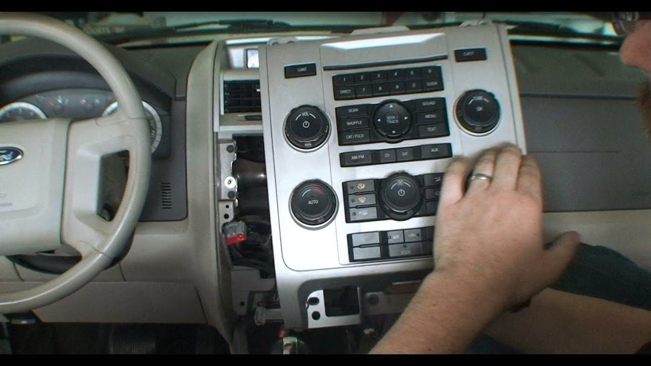 2008 ford escape stereo replacement aftermarket radio head unit installation [ 1280 x 720 Pixel ]