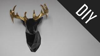 DIY: Cabeça de cervo { Papercraft - Stop Motion }