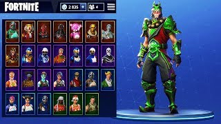 TOUS MES SKINS sur FORTNITE Battle Royale !!