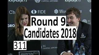 Candidates 2018: Round 9  A spectacular Rook sacrifice!
