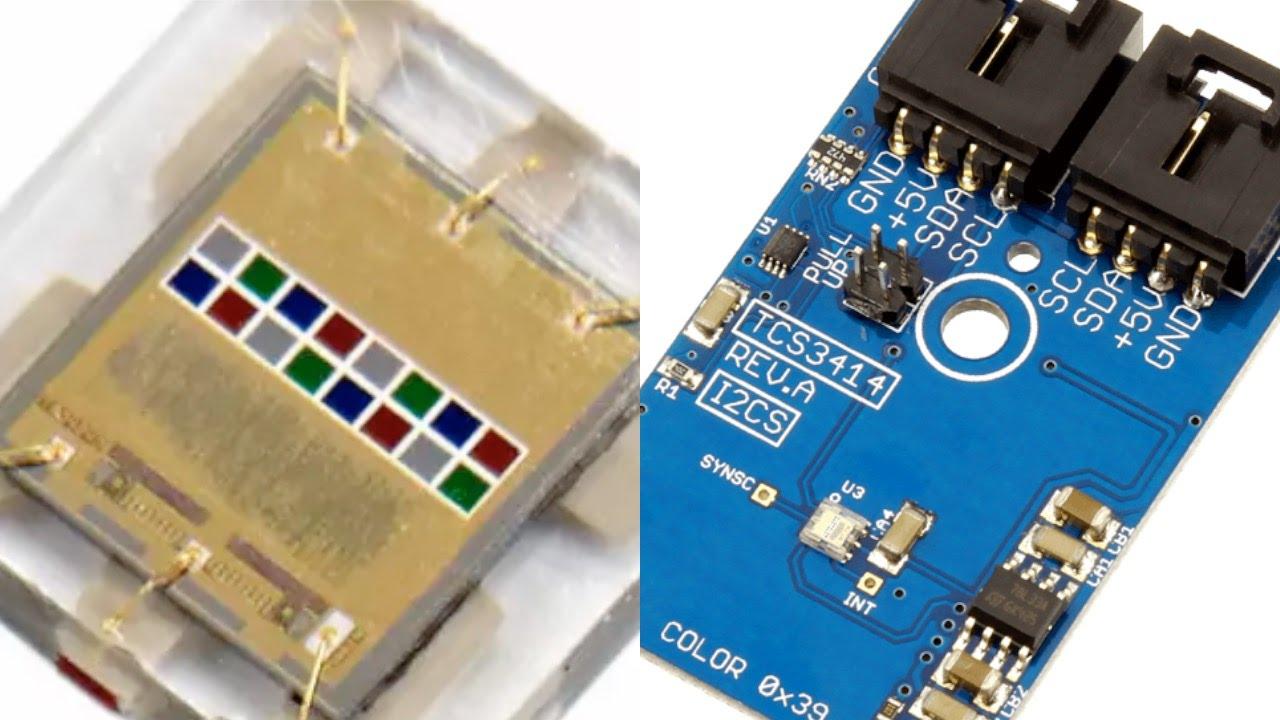 Arduino Nano Tcs3414 16 Bit Digital Color Sensor Tutorial Youtube Circuit Electronic