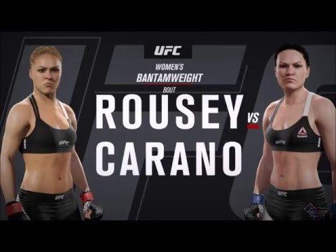 Ronda Rousey vs Gina Carano - EA Sports UFC 2 Super Fight! - YouTube