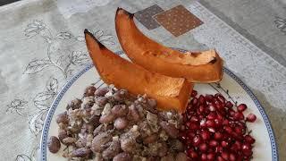 Здоровая еда-фасоль с тыквой