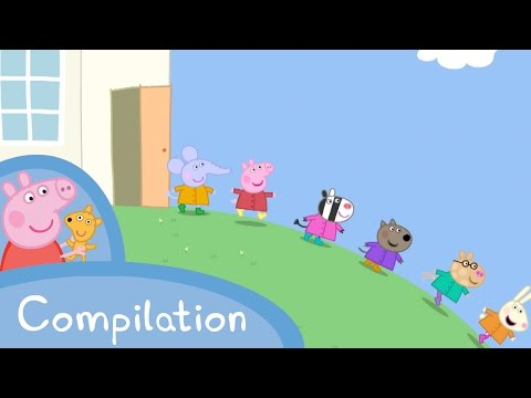 Peppa Pig Episodes - Back to school compilation (new) - Cartoons for Children