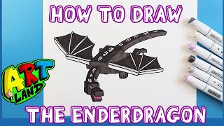 How to Draw THE ENDERDRAGON!!!