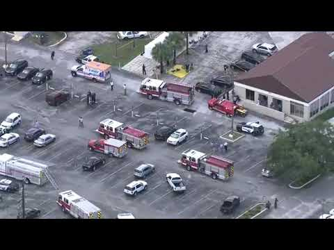 LIVE Eagle 8 is over the Lakeland Polk County Government Center, which has been evacuated due to a s