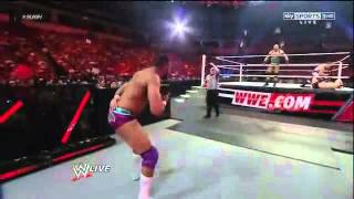 Ryback vs Mike Spinner & Andy Tavarez + Jinder Mahal atttack - RAW 20 August 2012