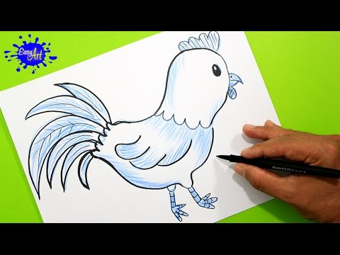 How To Draw A Roosterl Como Dibujar Un Gallo Paso A Paso L Animales