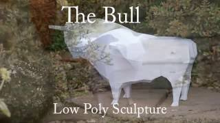 Building 'The Bull' - a low poly papercraft sculpture from PaperHen