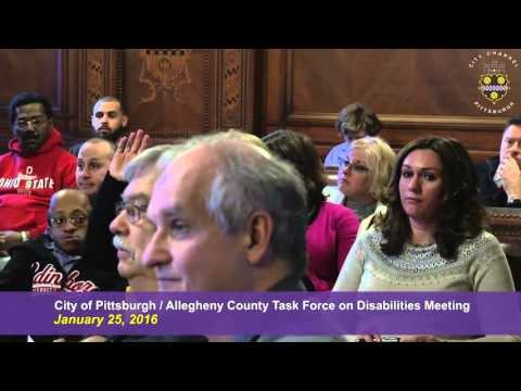 City of Pittsburgh / Allegheny County Task Force on Disabilities Meeting - 1/25/16