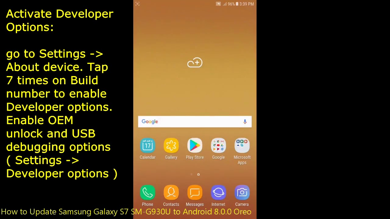 How to Update Samsung Galaxy S7 SM-G930U to Android 8 0 0 Oreo