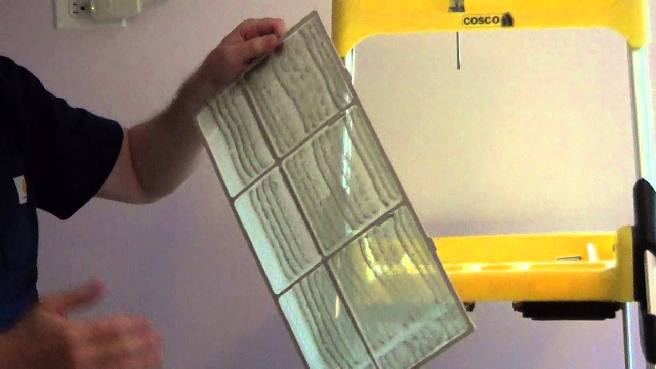 how to clean a window air conditioner filter youtube. Black Bedroom Furniture Sets. Home Design Ideas