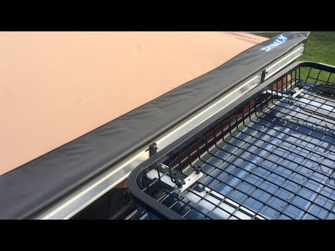 How to install a side Awning to a crossbar