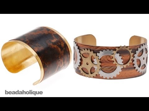 How to Cover a Brass Cuff in Lillypilly Copper Sheets