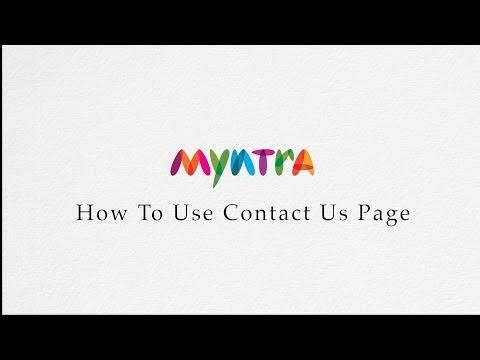 How to contact Us @ Myntra.com