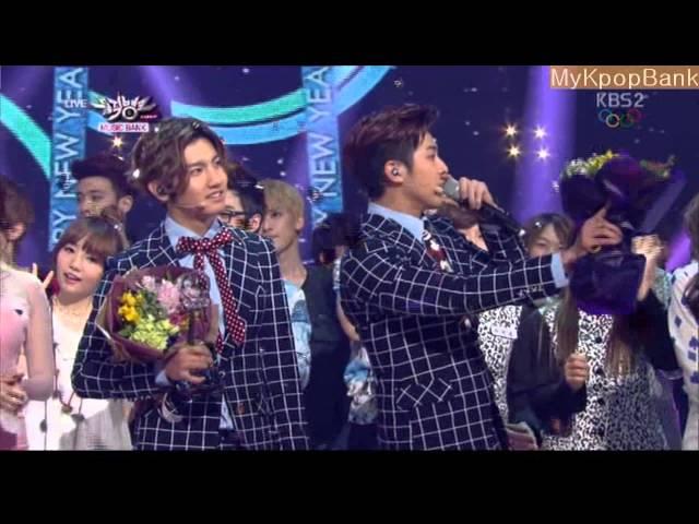140207 TVXQ VS Girl's Day [DBSK WIN] 동방신기 VS 걸스데이_Something Music Bank yoonho changmin yura