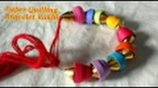 DIY Bracelet Rakhi Cum Friendship Band with paper Quilling | CraftLas