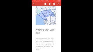 "UBER consecutive trips ""NEW"""
