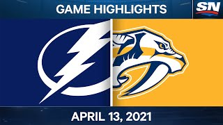 NHL Game Highlights | Lightning vs. Predators - Apr. 13, 2021