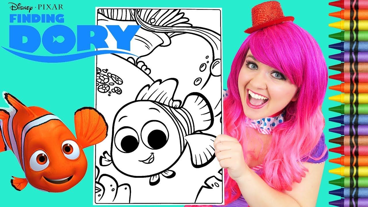 - Coloring Nemo Finding Dory GIANT Coloring Book Page Crayola
