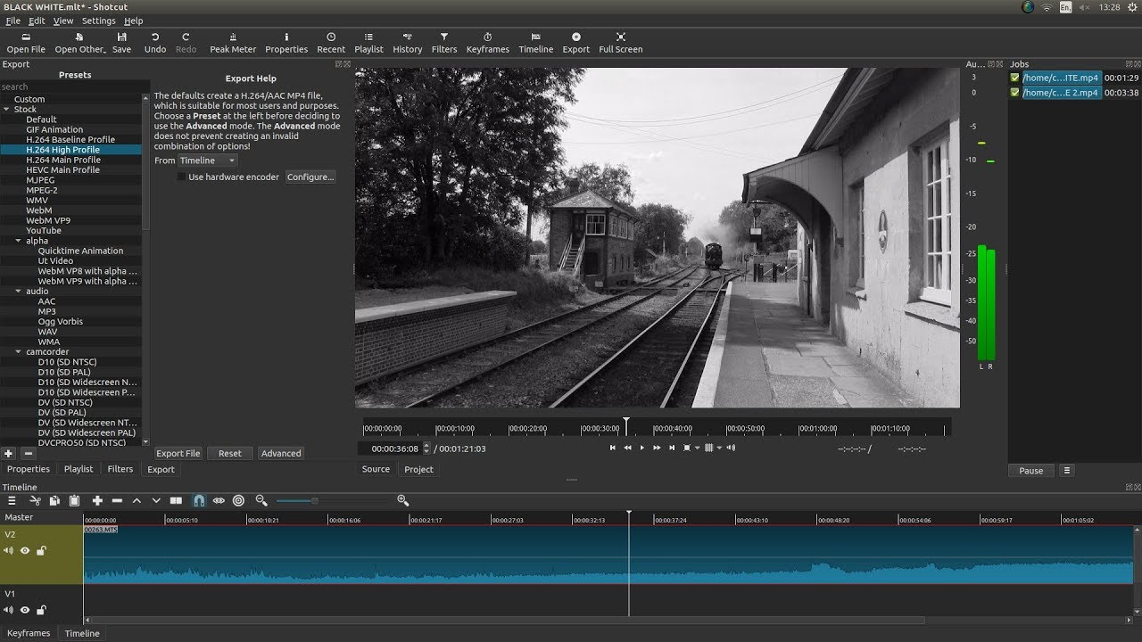 Shotcut: Convert A Color Video Clip To Black And White  A Video Editing  Tutorial For Beginners