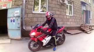 Мотоцикл Irbis Z1, стоковый звук, тест 2.(Новосибирск. Видео снято на камеру SJ4000. На днях поставлю новую банку Yoshimura., 2015-05-16T07:52:39.000Z)