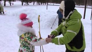 Урок на лыжах в Оханской средней школе 2015