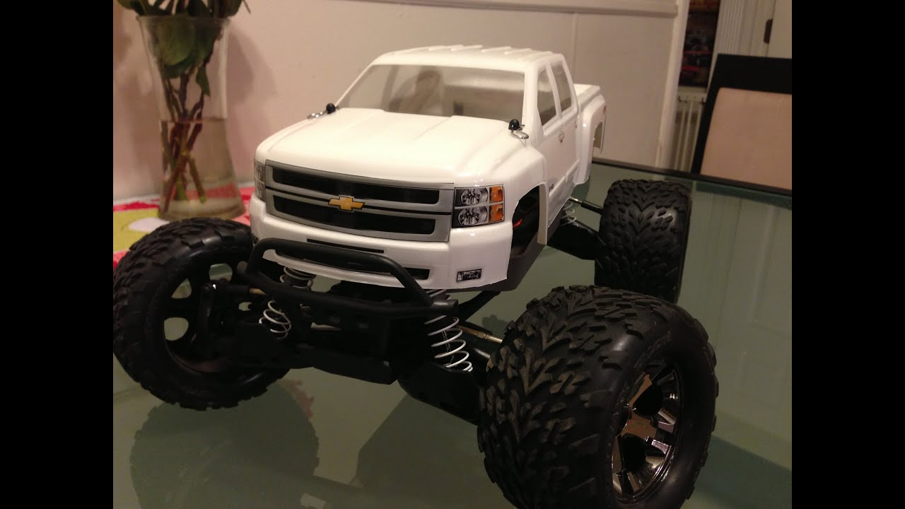 Traxxas stampede 4x4 Vxl with pro line Chevy Silverado 2500hd body
