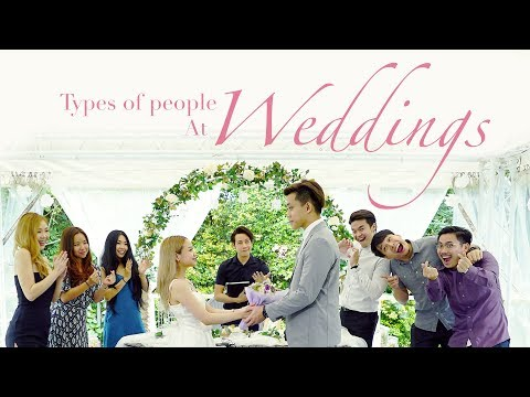 Types Of People At Weddings