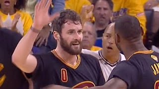 LeBron James Leaves Kevin Love Hanging, Yells at Him Instead