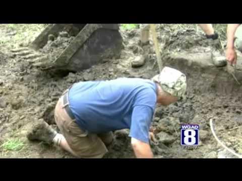 Wooly Mammoth bones on display in Keokuk County