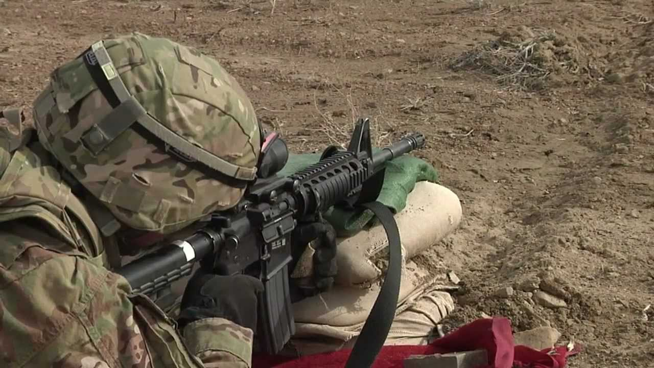 Shooting the M4 Carbine in Afghanistan - YouTube M14 Ebr Rifle