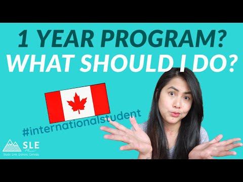 BEWARE!!! IS 1 YEAR PROGRAM WORTH IT? International students in Canada -1 year or 2 year program