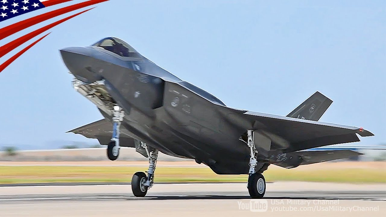 US Military News • U.S. Air Force F-35A Lightning IIs take off to Mont-de-Marsan Air Base, France