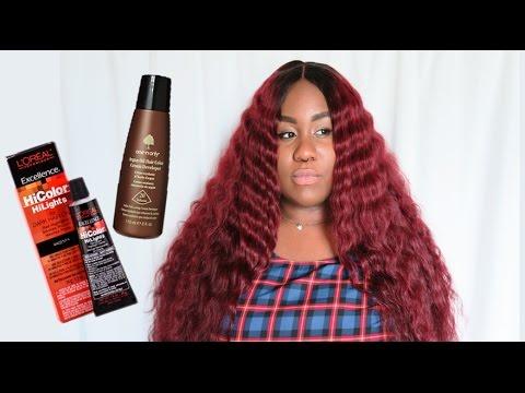 L'Oreal HiColor Magenta Hair Tutorial   NO BLEACHING